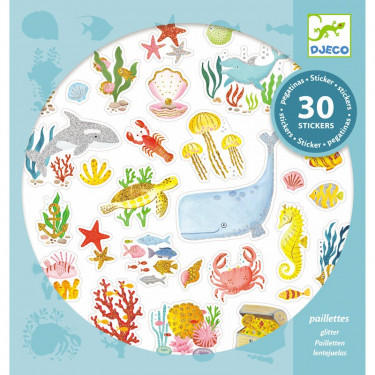 Stickers paillettes 'Aqua dream' DJECO 9261