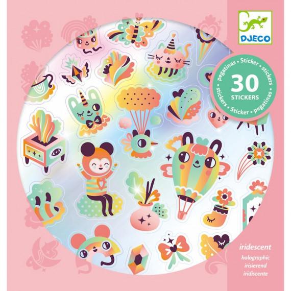 Stickers iridescents 'Lovely rainbow' DJECO 9264