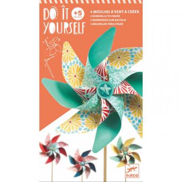 """Moulins à vent à créer """"Sweet"""" DIY DJECO 7920"""
