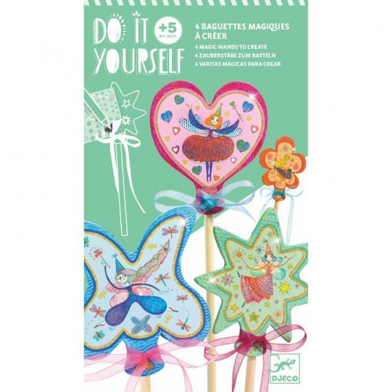 """Baguettes magiques à créer """"Petites fées"""" DIY DJECO 7950"""