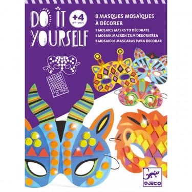 """Masques mosaïques à décorer """"Animaux de la jungle"""" DIY DJECO 7900"""