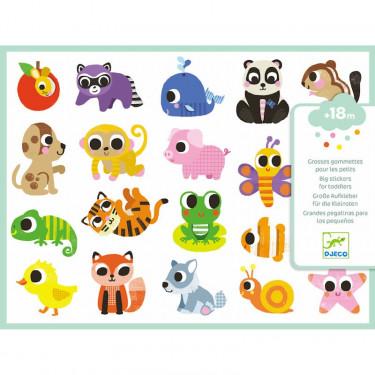 Grosses gommettes pour les petits 'Bébés animaux' DJECO 9084