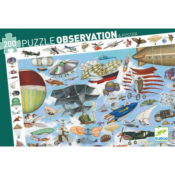 Puzzle observation 'Aéro Club' 200 pcs DJECO 7451