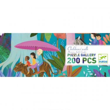Puzzle 200 pcs Promenade des enfants DJECO 7607