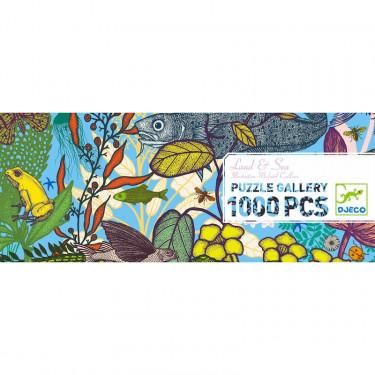 Puzzle 1000 pcs Terre et Mer DJECO 7646