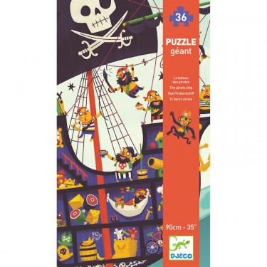 Le bateau des pirates, puzzle géant 36 pcs DJECO 7129