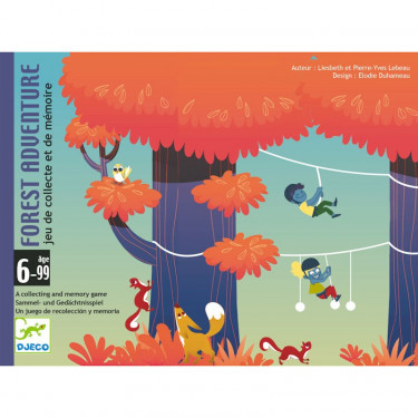 Forest Adventure, jeu de cartes DJECO 5180