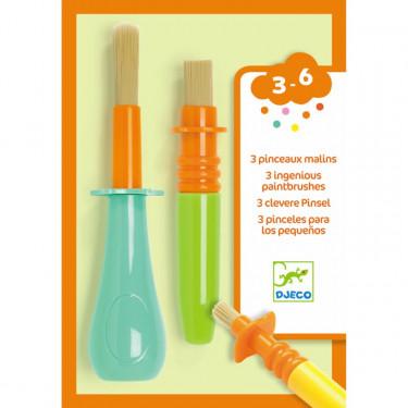 3 pinceaux malins pour les petits DJECO 9007