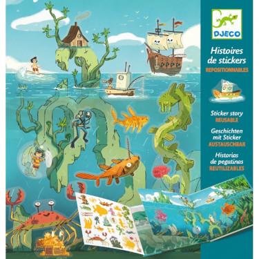 Histoires de stickers 'Les aventures en mer' DJECO 8953