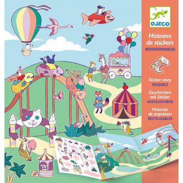 Histoires de stickers 'La fête foraine' DJECO 8952