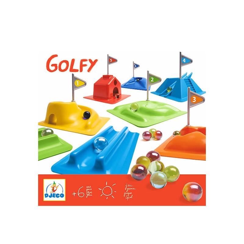 golfy jeu de parcours de billes djeco 2001 jouets et merveilles. Black Bedroom Furniture Sets. Home Design Ideas