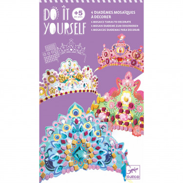 """Diadèmes mosaïques à décorer """"Comme une princesse"""" DIY DJECO 7901"""