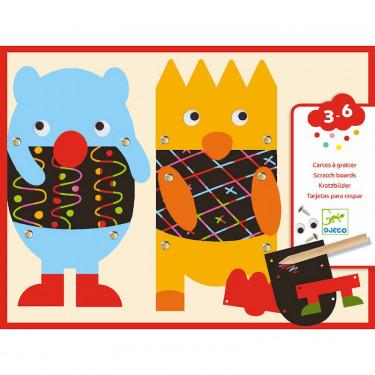 Cartes à gratter 'Gratte les petits monstres' DJECO 9090