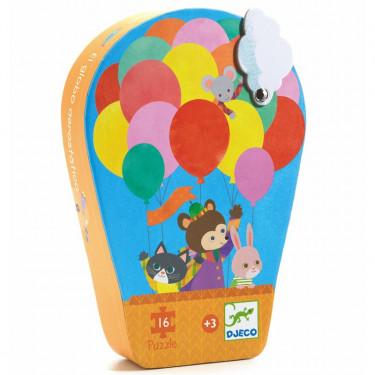 La montgolfière, puzzle silhouette 16 pcs DJECO 7270