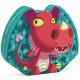 Edmond le dragon, puzzle 24 pcs silhouette DJECO 7214
