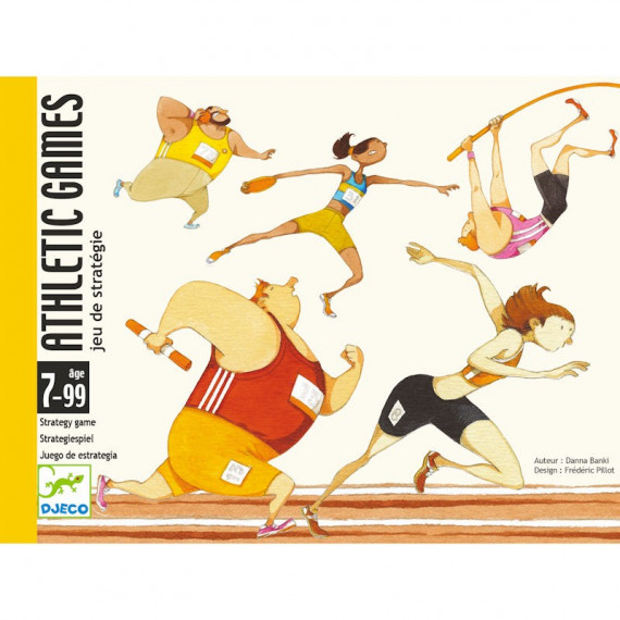 Athletic games, jeu de cartes DJECO 5172