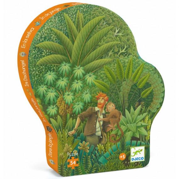Dans la jungle, puzzle 54 pcs silhouette DJECO 7244