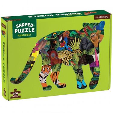 Puzzle silhouette 300 pcs 'Forêt tropicale' Mudpuppy