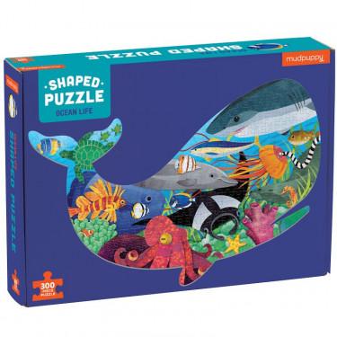 Puzzle silhouette 300 pcs 'Vie marine' Mudpuppy