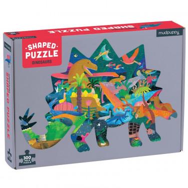 Puzzle silhouette 300 pcs 'Dinosaures' Mudpuppy