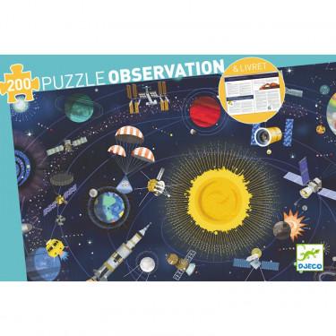 Puzzle observation L'espace 200 pcs DJECO 7413