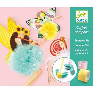"""Coffret pompons """"Fées"""" DJECO 9836"""