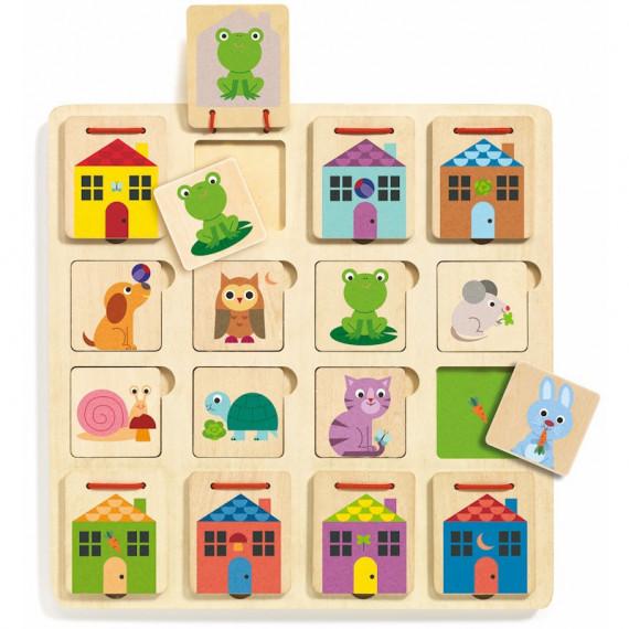 """Puzzle cache-cache """"Cabanimo"""" DJECO 1520"""