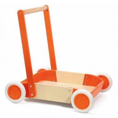 Chariot de marche en bois pour enfant DJECO 205 Red Trott'it !