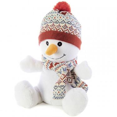 Peluche bouillotte Bonhomme de neige Warmies Cozy