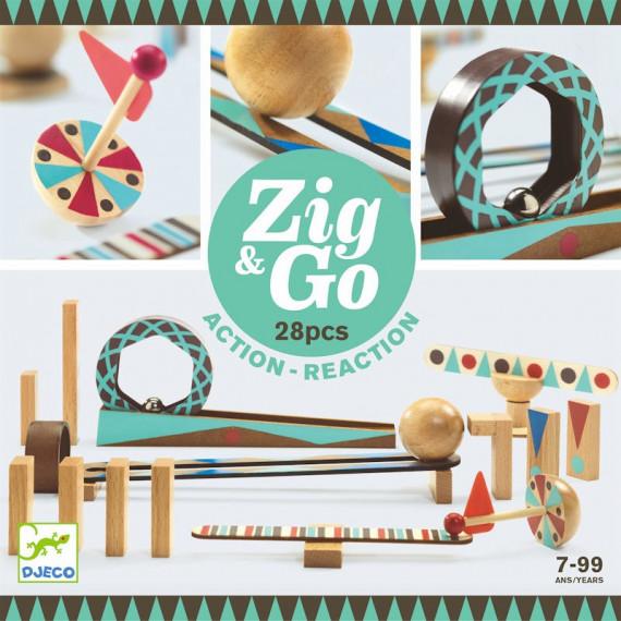 ZIG & GO - 28 pièces DJECO 5640