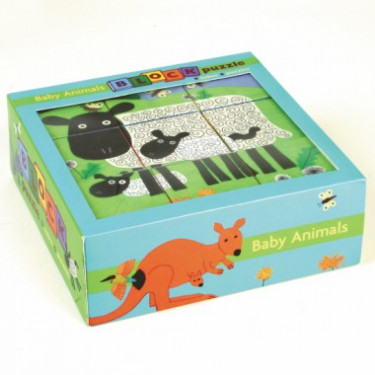 Puzzle cubes bébés animaux, cubes enfants MUDPUPPY