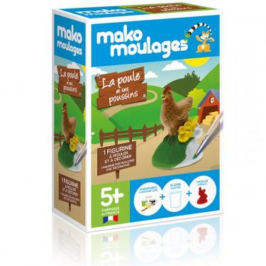 Mako Moulages 'La poule et ses poussins' 39044