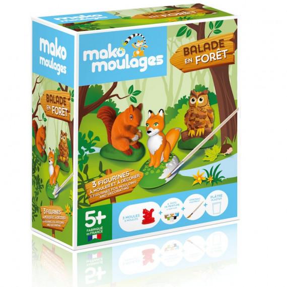 """Mako Moulages """"Balade en forêt"""" étui 3 moules 39049"""
