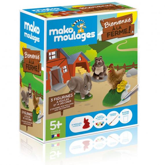 """Mako Moulages """"Bienvenue à la ferme"""" étui 3 moules 39047"""