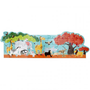 Puzzle géant 36 pcs 'Safari animaux' Scratch
