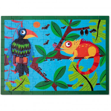 Puzzle 100 pcs Toucan dans la jungle Scratch