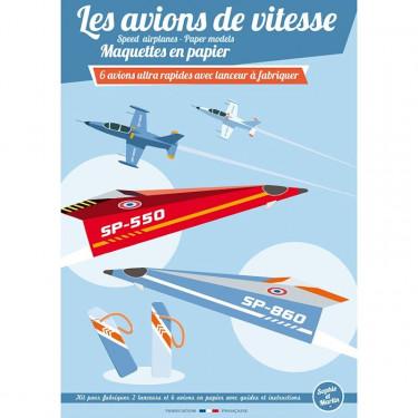 Les avions de vitesse, maquettes en papier 'Sophie et Martin'