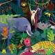 """Puzzle qui Brille dans le Noir """"Jungle"""" 500 pcs Mudpuppy"""