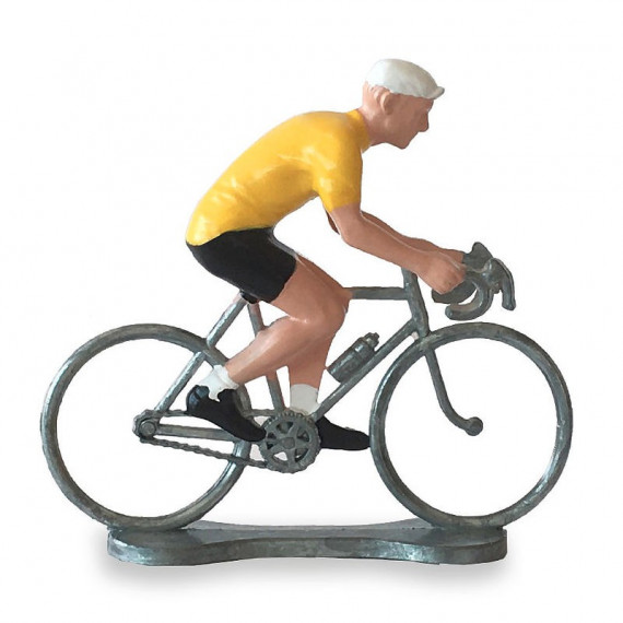 Figurine cycliste maillot jaune _ Bernard & Eddy