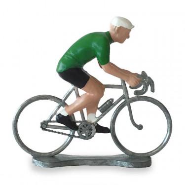 Figurine cycliste maillot vert _ Bernard & Eddy