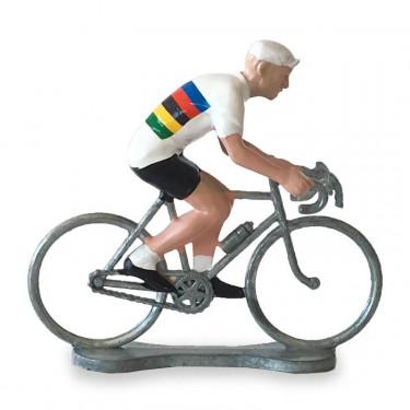 Figurine cycliste maillot champion du monde _ Bernard & Eddy