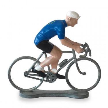 Figurine cycliste maillot champion d'Europe _ Bernard & Eddy
