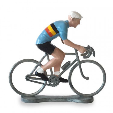 Figurine cycliste maillot Belgique _ Bernard & Eddy