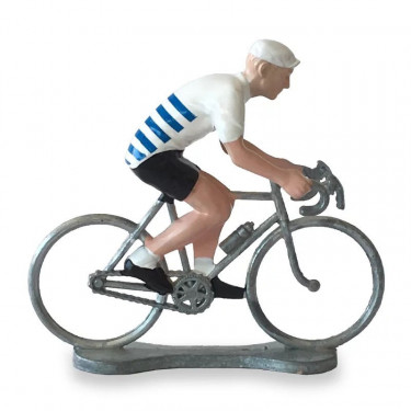 Figurine cycliste maillot Bretagne _ Bernard & Eddy