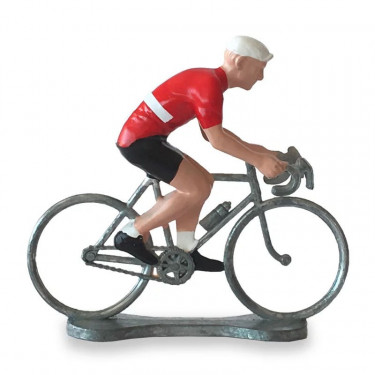 Figurine cycliste maillot Danemark _ Bernard & Eddy