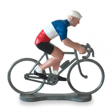 Figurine cycliste maillot France _ Bernard & Eddy