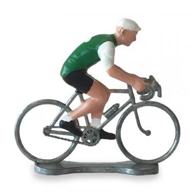 Figurine cycliste maillot Irlande _ Bernard & Eddy
