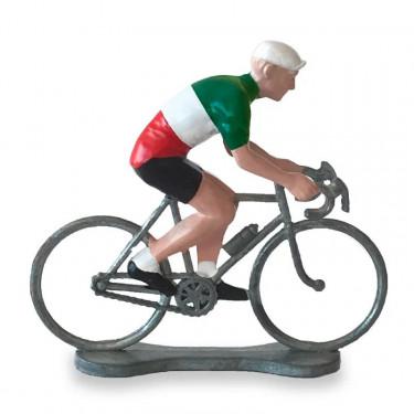 Figurine cycliste maillot Italie _ Bernard & Eddy