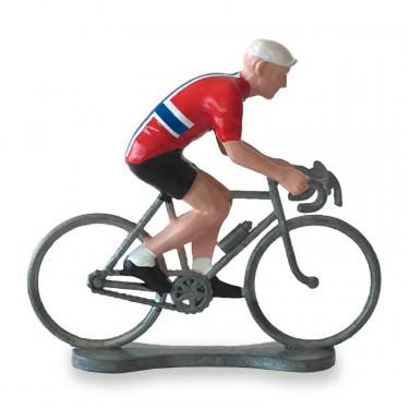 Figurine cycliste maillot Norvège _ Bernard & Eddy