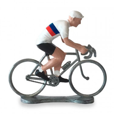 Figurine cycliste maillot Russie _ Bernard & Eddy